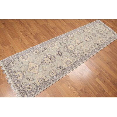 Helmsley One-of-a-Kind Traditional Oriental Hand-Knotted Wool Gray Area Rug
