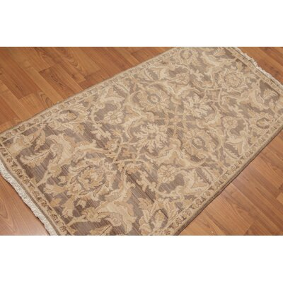 Henson One-of-a-Kind Traditional Oriental Hand-Knotted Wool Brown Area Rug