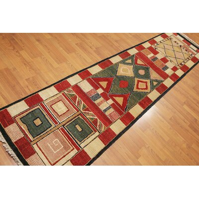 Putman One-of-a-Kind Modern Oriental Hand-Knotted Wool Red Area Rug