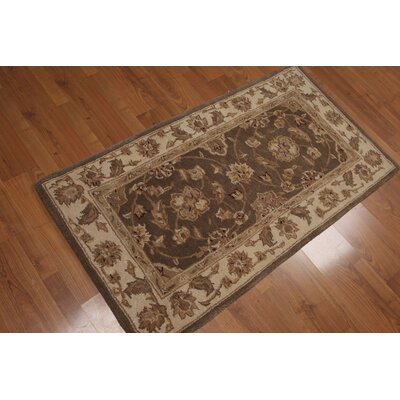 Kenji One-of-a-Kind Traditional Oriental Hand-Knotted Wool Brown Area Rug