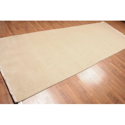 Pyron One-of-a-Kind Modern Oriental Hand-Knotted Wool Beige Area Rug