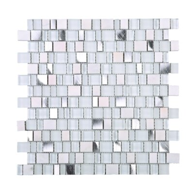 Cubemax Random Sized Mixed Material Tile in White