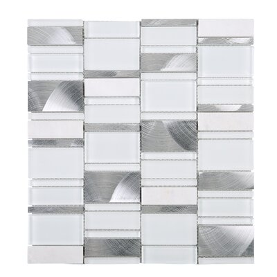 Brickmax Random Sized Mixed Material Tile in White