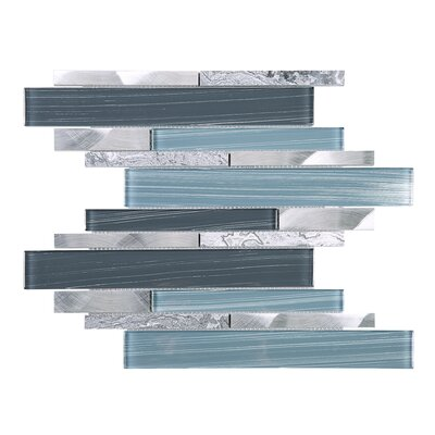 Rec Random Sized Mixed Material Tile in Blue/Gray