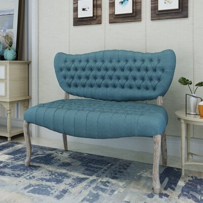 Finch Loveseat Upholstery: Blue