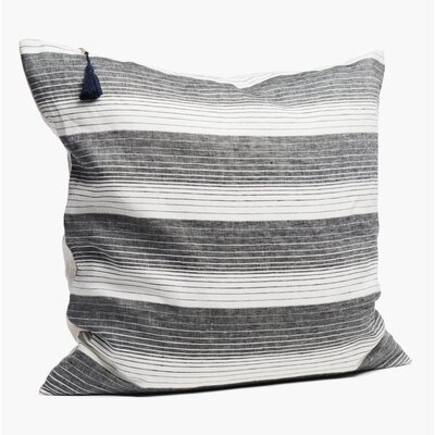Rhoden Linen Throw Pillow Color: Black