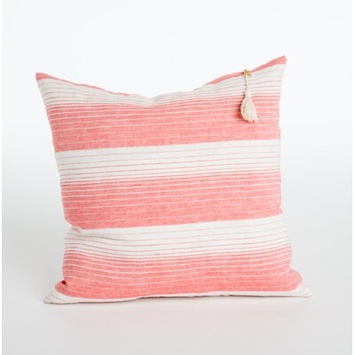 Rhoden Linen Throw Pillow Color: Coral