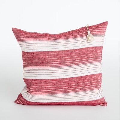 Rhoden Linen Throw Pillow Color: Cranberry
