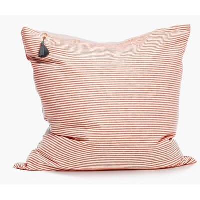 Rhuddlan Cotton Throw Pillow Color: Red