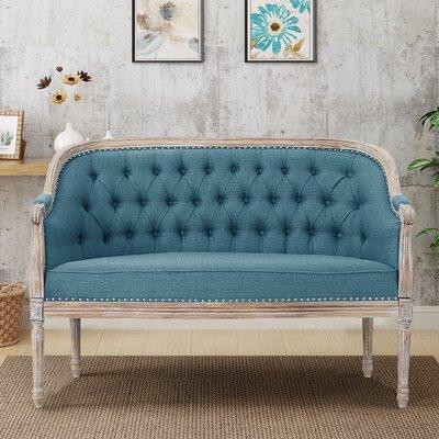 Fincham Loveseat Upholstery: Blue
