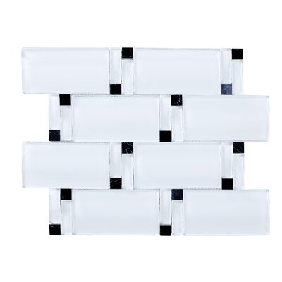 Random Sized Mixed Material Tile in White/Black