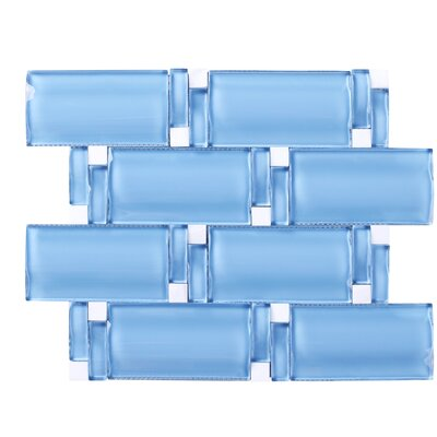 Random Sized Mixed Material Tile in Blue