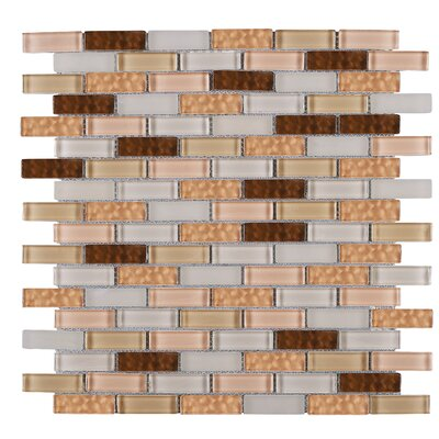 1 x 2 Glass Tile in Brown