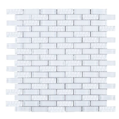 Crystile 1 x 2 Glass Tile in White