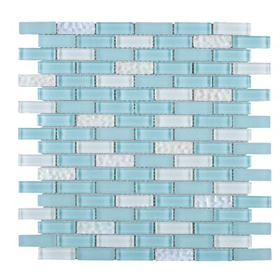 Mix 1 x 2 Mixed Material Tile in Blue