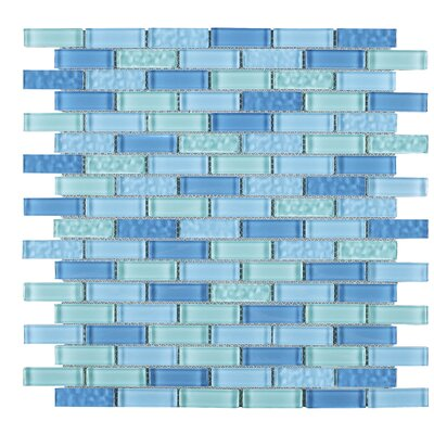 Maldvies 1 x 2 Glass Tile in Blue