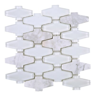 Crossroads 3 x 3 Mixed Material Tile in White