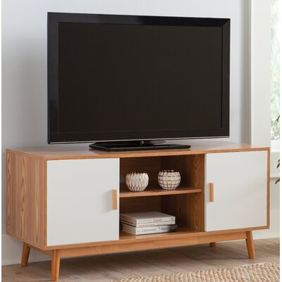 Phoebe 47 TV Stand Color: Wood Grain/White