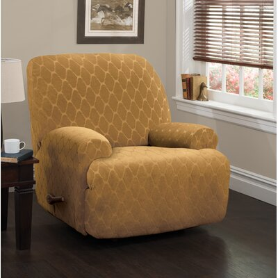 Jumbo T-Cushion Recliner Slipcover Upholstery: Camel