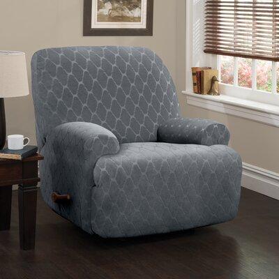 Jumbo T-Cushion Recliner Slipcover Upholstery: Gray