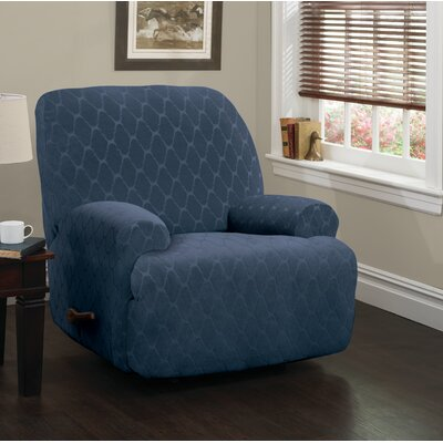 Jumbo T-Cushion Recliner Slipcover Upholstery: Navy