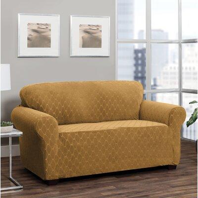 T-Cushion Loveseat Slipcover Upholstery: Camel