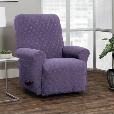 T-Cushion Recliner Slipcover Upholstery: Grape
