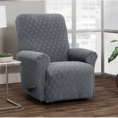 T-Cushion Recliner Slipcover Upholstery: Gray