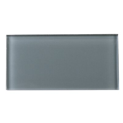 3 x 6 Glass Tile in Gray