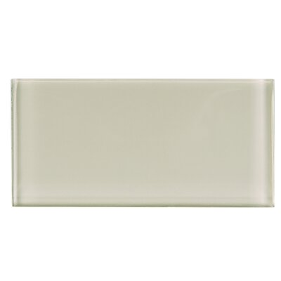 3 x 6 Glass Subway Tile in Beige