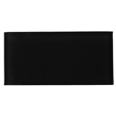 3 x 6 Glass Tile in Black