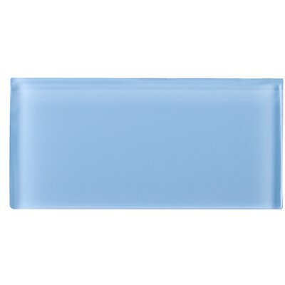 3 x 6 Glass Subway Tile in Blue