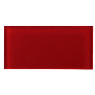 3 x 6 Glass Tile in Red