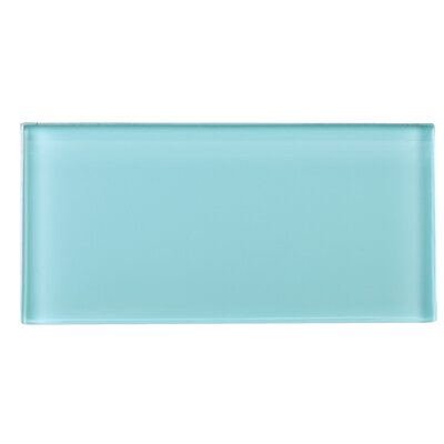 3 x 6 Glass Tile in Blue