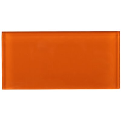 3 x 6 Glass Tile in Orange