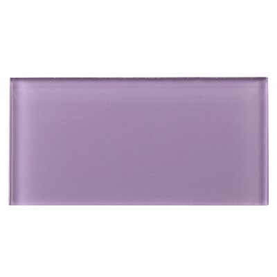 3 x 6 Glass Tile in Purple