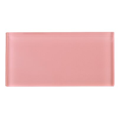 3 x 6 Glass Tile in Pink