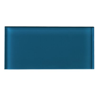 3 x 6 Glass Tile in Turquoise Blue