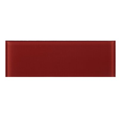 4 x 12 Glass Tile in Red