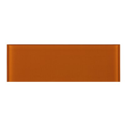 4 x 12 Glass Tile in Orange