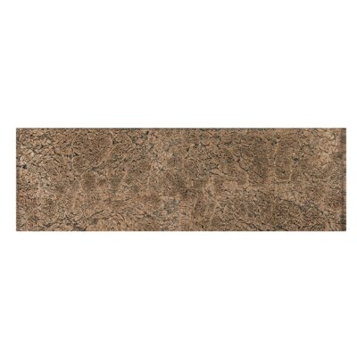 4 x 12 Glass Tile in Brown