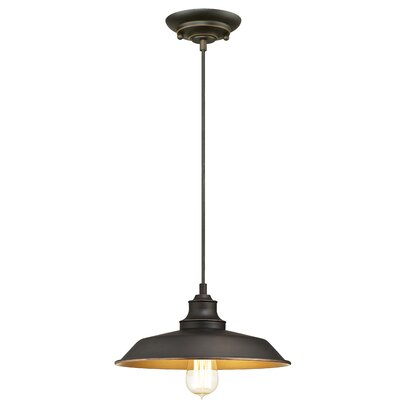Alayna 1-Light Mini Pendant Size: 57.15 H x 12 W x 12 D