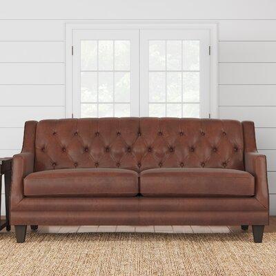 Kashvi Leather Sofa Upholstery: Steamboat Chestnut