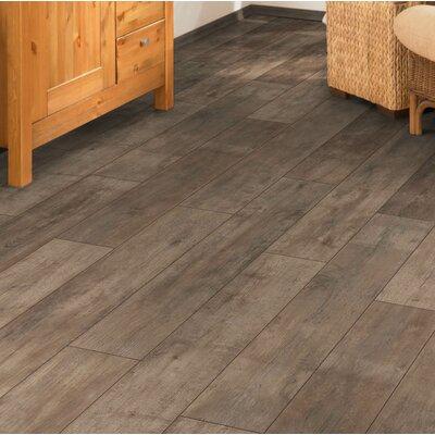 Torre 9 x 48 x 8mm Oak Laminate Flooring in Brown
