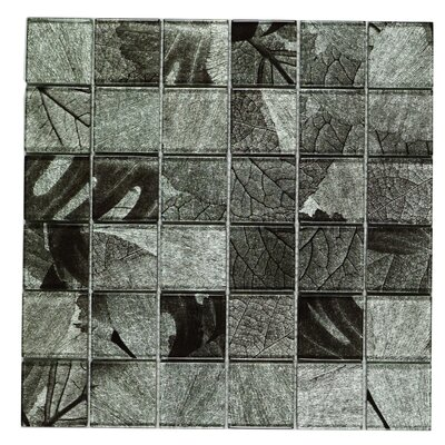 Season Series Winter 2 x 2 Glass Tile in Gray