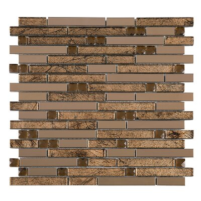 Random Sized Mixed Material Tile in Brown