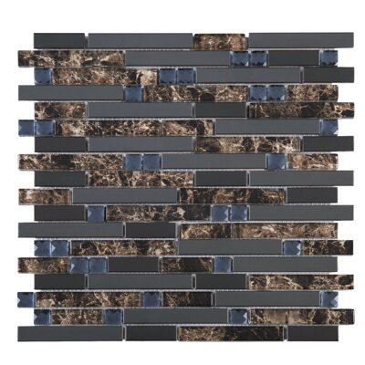 Emperador Random Sized Mixed Material Tile in Gray/Brown