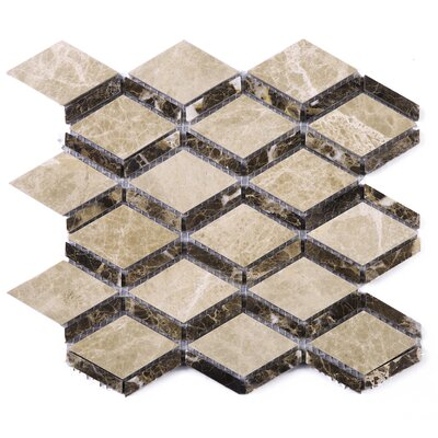 Cedar Dynasty Random Sized Marble Tile in Brown/Beige