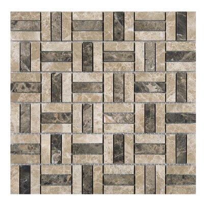 Maze Marfil Emperador 0.6 x 2 Marble Tile in Beige