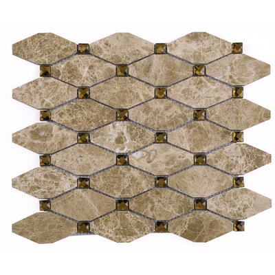 Emperador Random Sized Mixed Material Tile in Brown